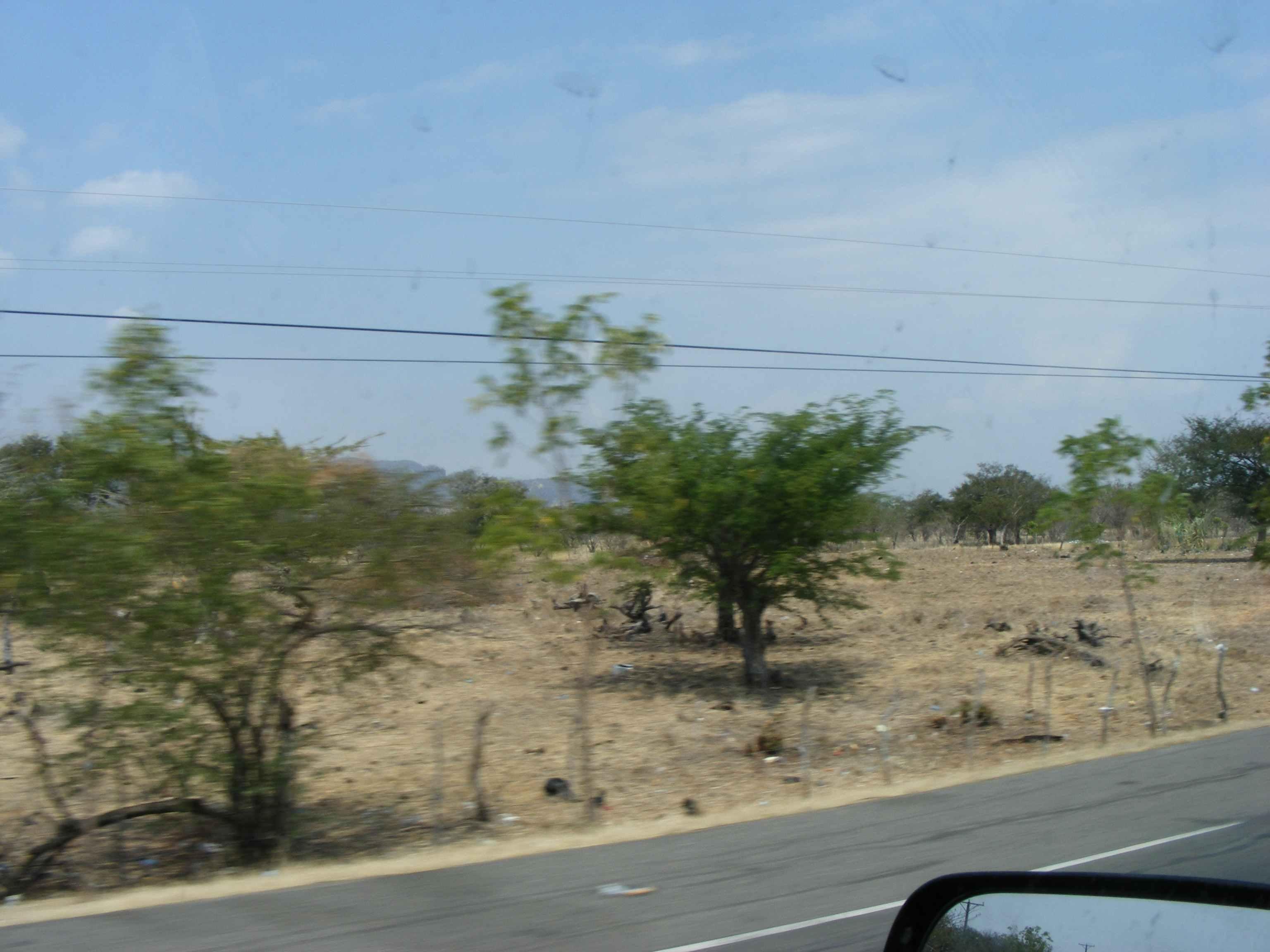 Desert Like Landscape Approaching Honduras