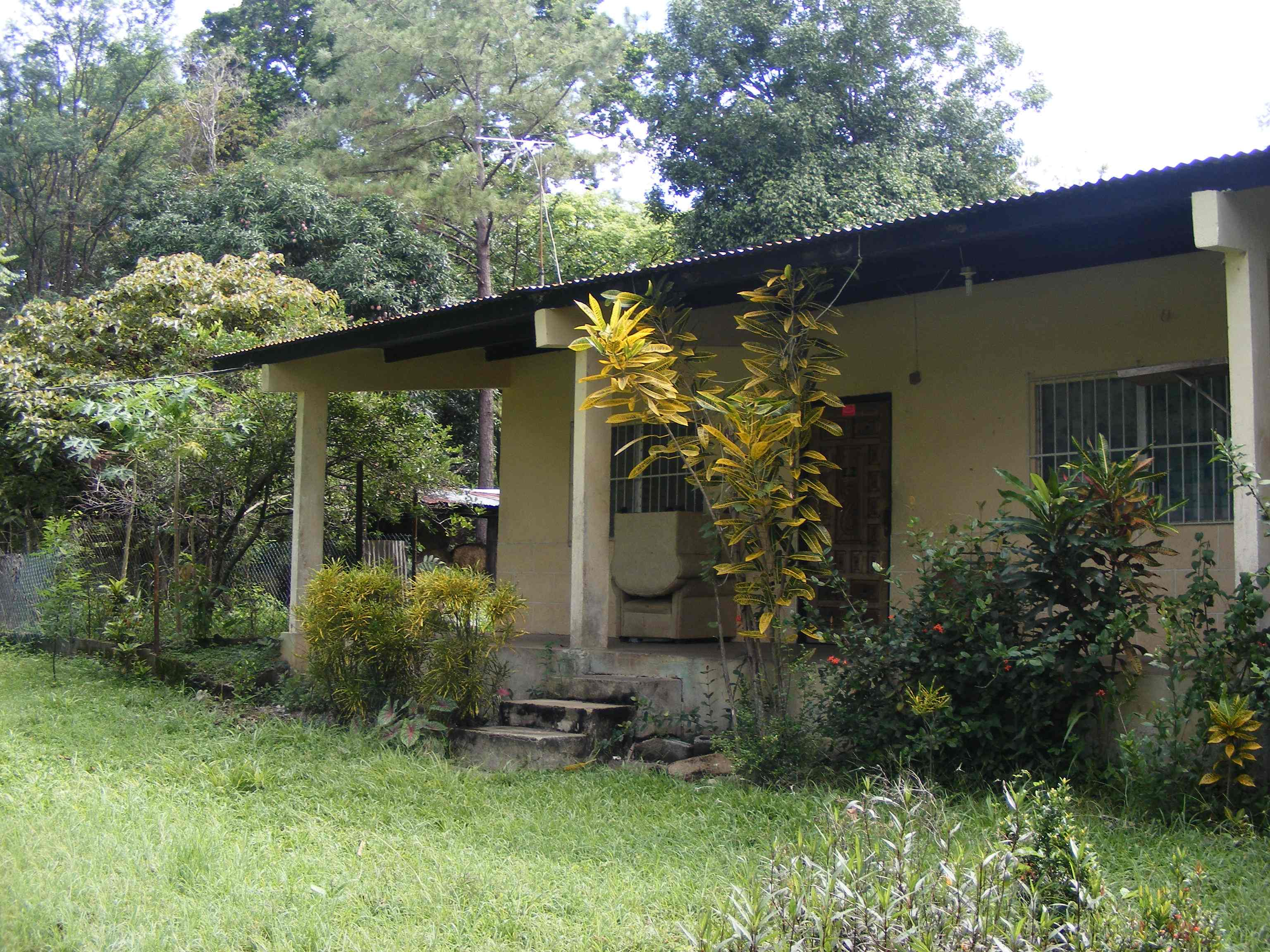 Panamanian house in a village