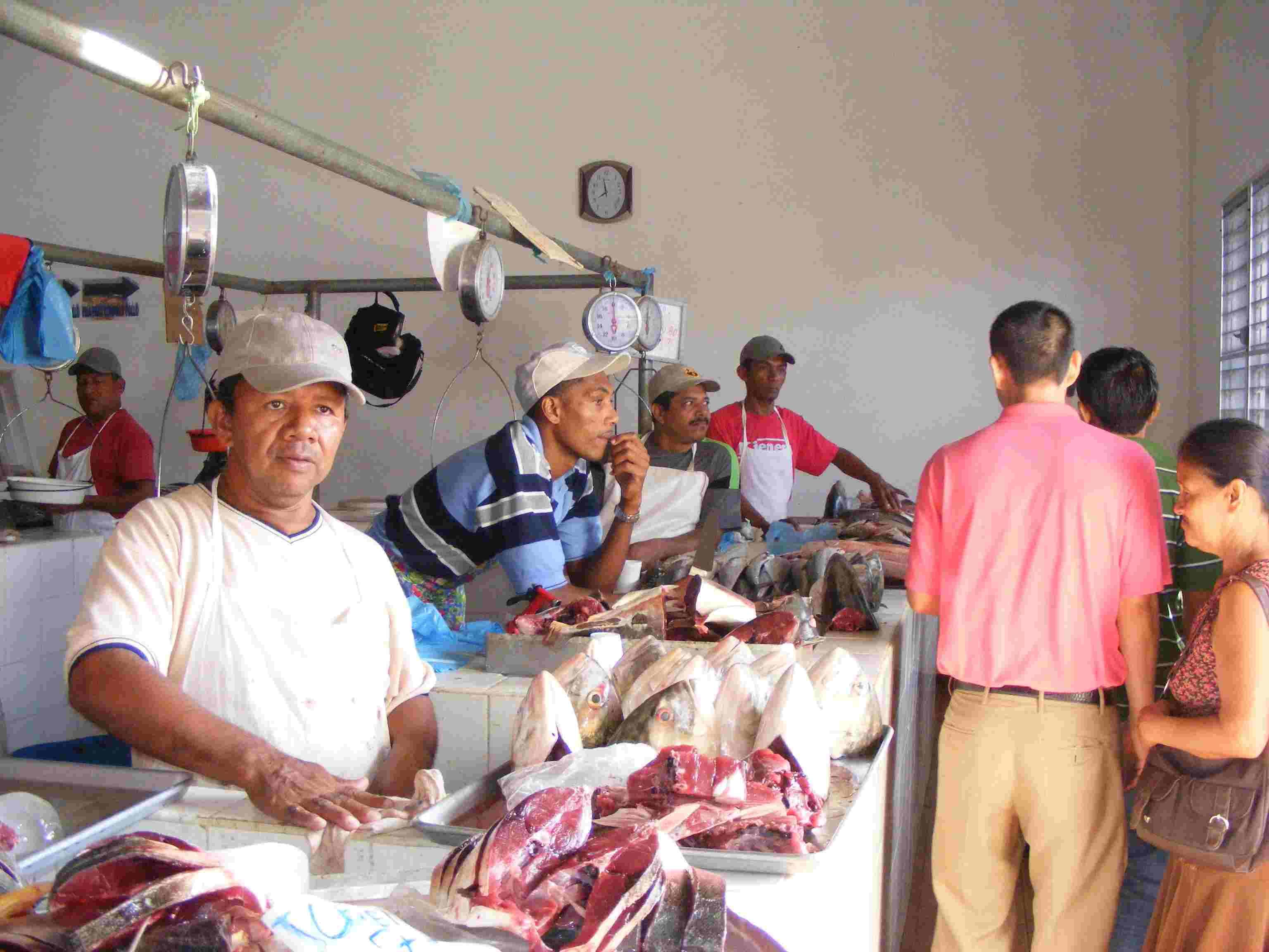 The Penonome fish market