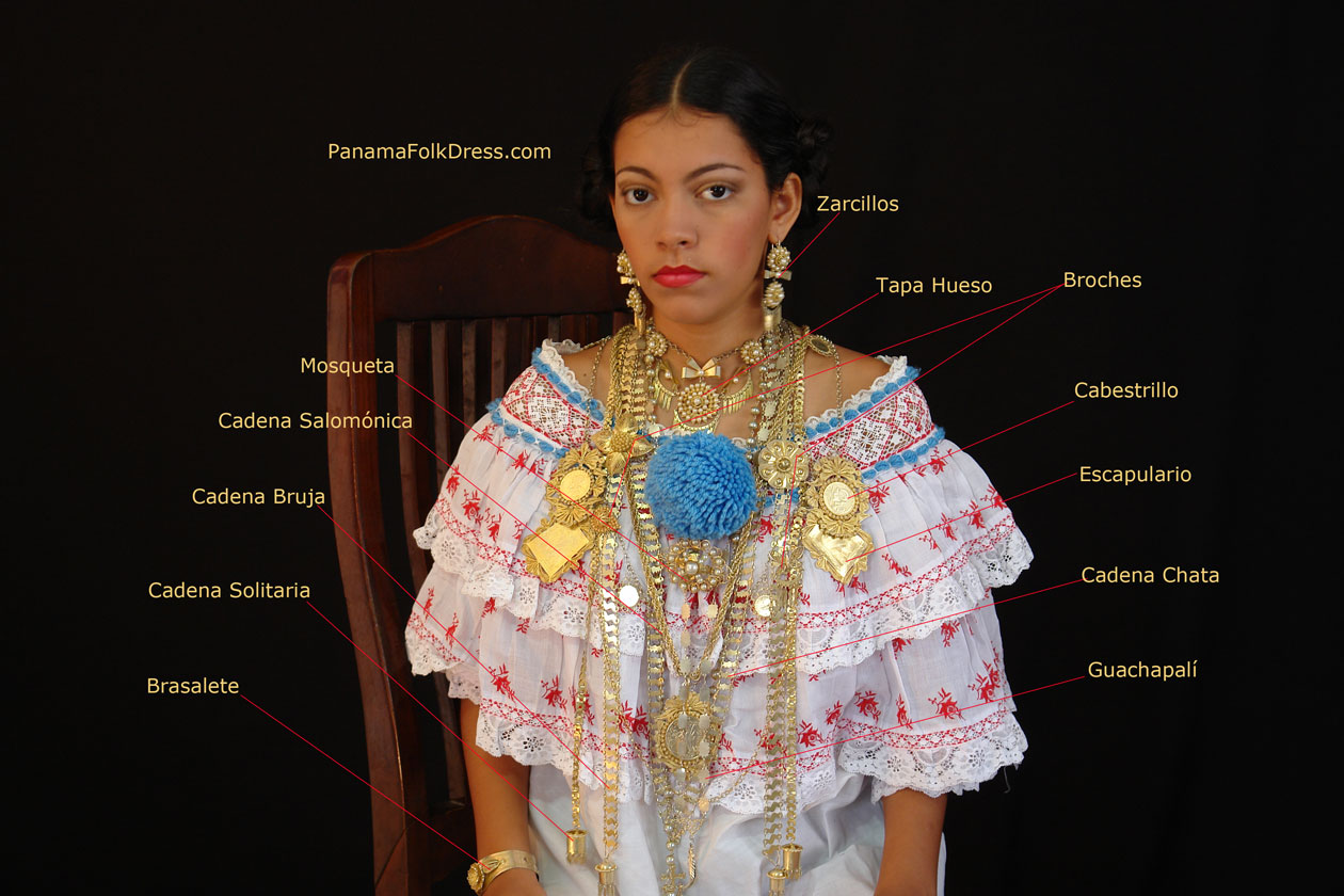 Panamanian woman head ornaments