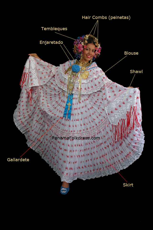 Panamanian woman dress - Pollera